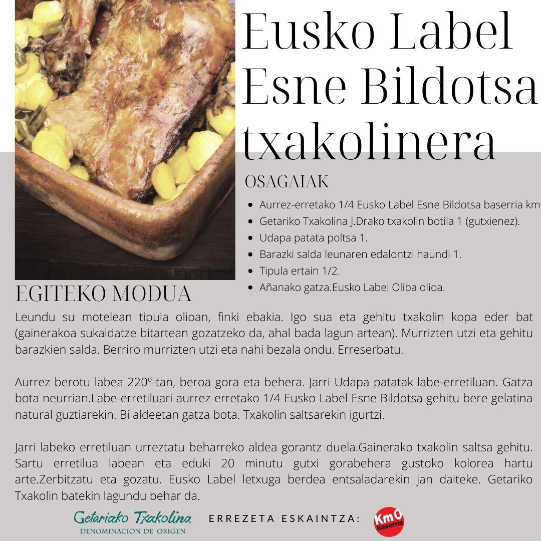 Eusko Label Esne Bildotsa txakolinera