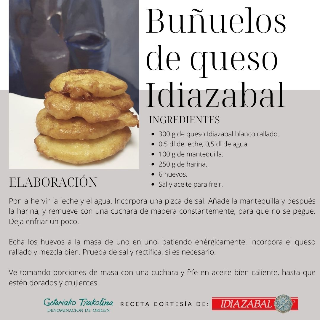 Buñuelos de Queso Idiazabal