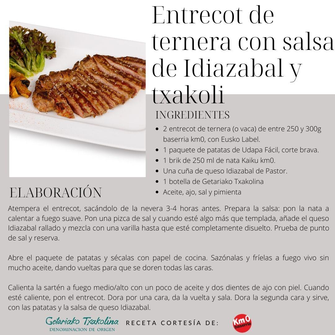 Receta Entrecot con Salsa de Idiazabal
